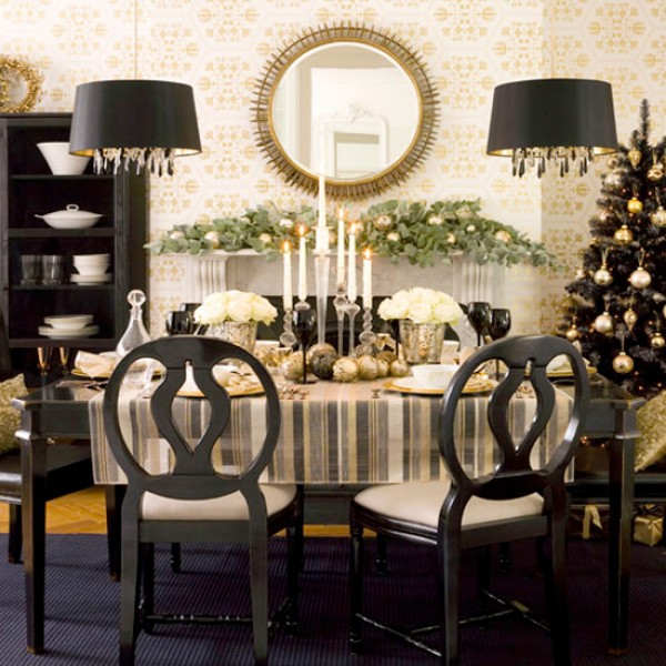 Dining Room , 6 Perfect Centerpieces For Dining Room Table : centerpiece black dining room