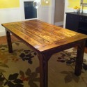 contemporary dining table , 4 Best Farmhouse Dining Table Plans In Furniture Category