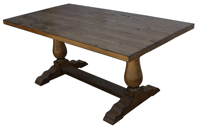 Furniture , 8 Excellent Custom Reclaimed Wood Dining Table :  dining room tables