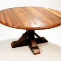 dining table sets , 7 Awesome Reclaimed Wood Round Dining Tables In Furniture Category