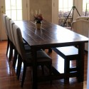 dining table with bench , 4 Best Farmhouse Dining Table Plans In Furniture Category