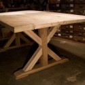 Furniture , 8 Nice Salvaged Wood Dining Tables :  round dining table