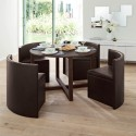 round hideaway table , 8 Stunning Hideaway Dining Table And Chairs In Dining Room Category