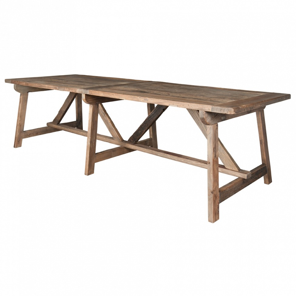Small dining tables 9 unique distressed trestle dining for Unique small dining tables