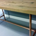 with Copper Pipe Base , 8 Good Reclaimed Wood Dining Table Chicago In Furniture Category
