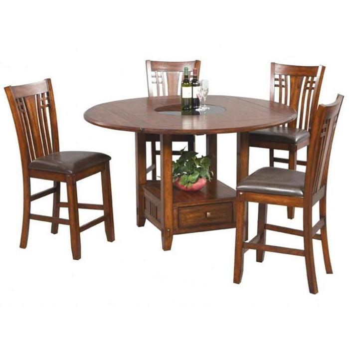 Furniture , 8 Unique Lazy Susan Dining Room Table : zahara round dining table