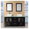 Aden 60 inch Double Sink Bathroom Vanity Set , 5 Nice 60 Inch Bathroom Vanity Double Sink In Furniture Category