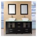 Aden 60 inch Double Sink Bathroom Vanity Set , 5 Nice 60 Inch Bathroom Vanity Double Sink In Furniture Category