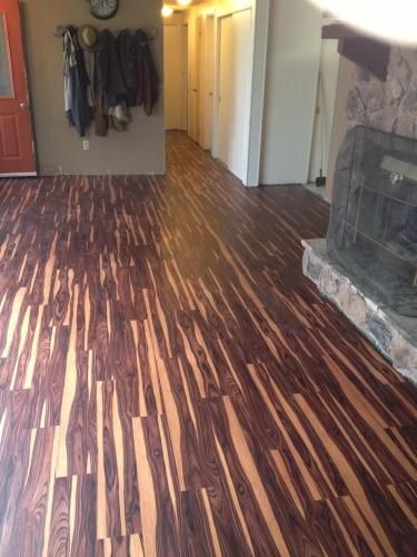 Others , 4 Hottest Trafficmaster Allure Flooring : African Wood Dark Resilient Vinyl