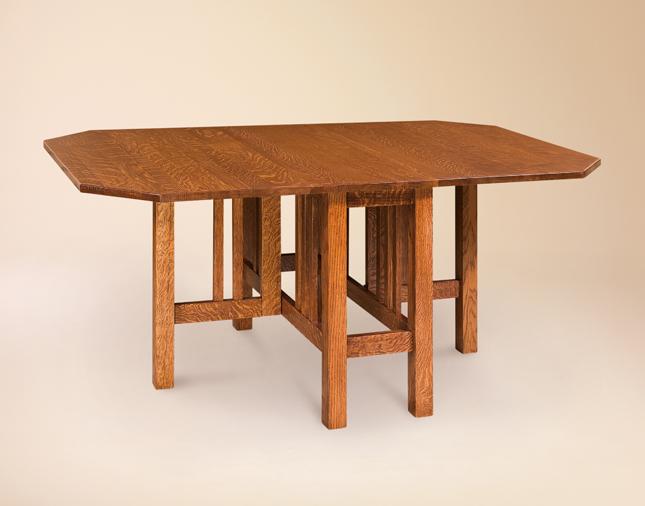 Furniture , 8 Awesome Gateleg Dining Table : Amish Gateleg Mission Dining Table