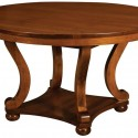Amish Harrison Round Trestle Table , 7 Top Amish Round Dining Table In Furniture Category