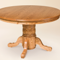 Amish Round Pedestal Dining Tables , 6 Good Expandable Pedestal Dining Table In Furniture Category