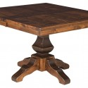 Amish Rustic Square Dining Table , 6 Popular Rustic Pedestal Dining Table In Furniture Category