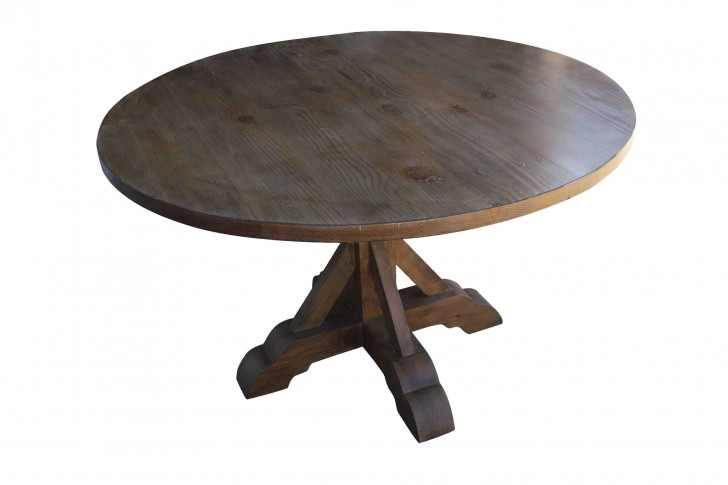 Furniture , 7 Gorgeous Reclaimed Wood Round Dining Table : Base Round Reclaimed Wood Dining Table
