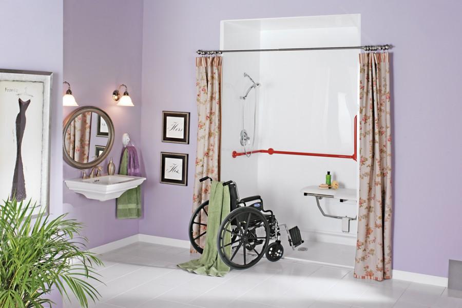 900x601px 7 Gorgeous Handicap Bathroom Designs Picture in Bathroom