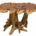 Big Leaf Burl Stump Dining Table , 7 Amazing Tree Stump Dining Table In Furniture Category