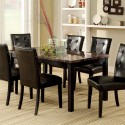 Boulder Espresso Dining Table Set , 8 Hottest Faux Marble Dining Table In Dining Room Category