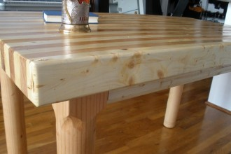 736x552px 8 Top Butcher Block Dining Room Table Picture in Furniture