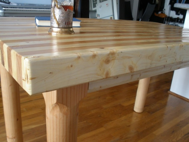Furniture , 8 Top Butcher Block Dining Room Table : Butcher Block Dining Table
