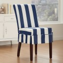 Cabana Indigo Dining Chair Slipcover , 8 Awesome Slipcovered Dining Chairs In Furniture Category