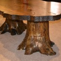 Cabin Dining Table , 7 Amazing Tree Stump Dining Table In Furniture Category