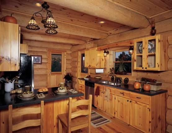 Kitchen , 5 Best Log Cabin Interior Design Ideas : Cabin Interior Design Minimalist