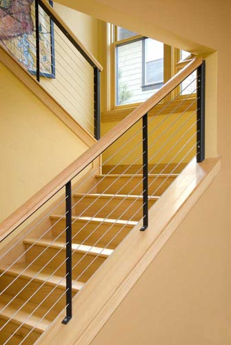 335x500px 7 Good Cable Stair Railing Picture in Interior Design