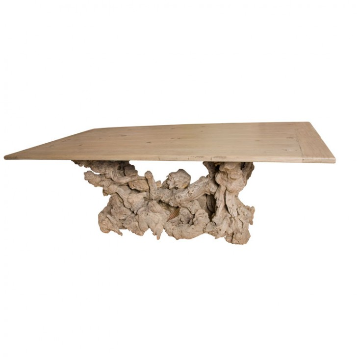 Furniture , 8 Stunning Driftwood Dining Table : California Driftwood dining table