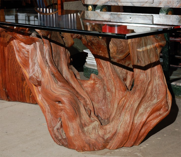 Furniture , 7 Awesome Redwood Dining Table : California Redwood Dining  Table Image