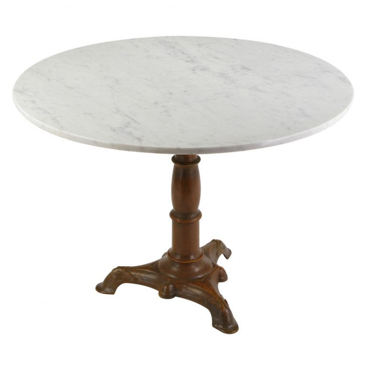 Furniture , 7 Hottest Carrera Marble Dining Table : Cast Iron Pedestal Dining Table