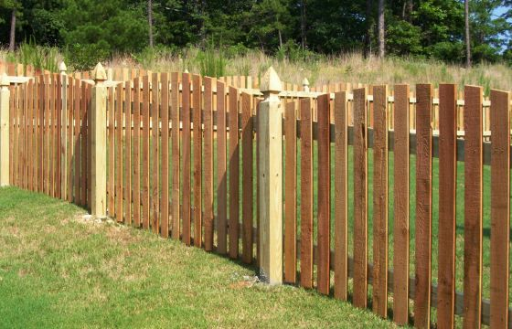 Others , 7 Awesome Cedar Fence Pickets : Cedar Arched Picket Fence