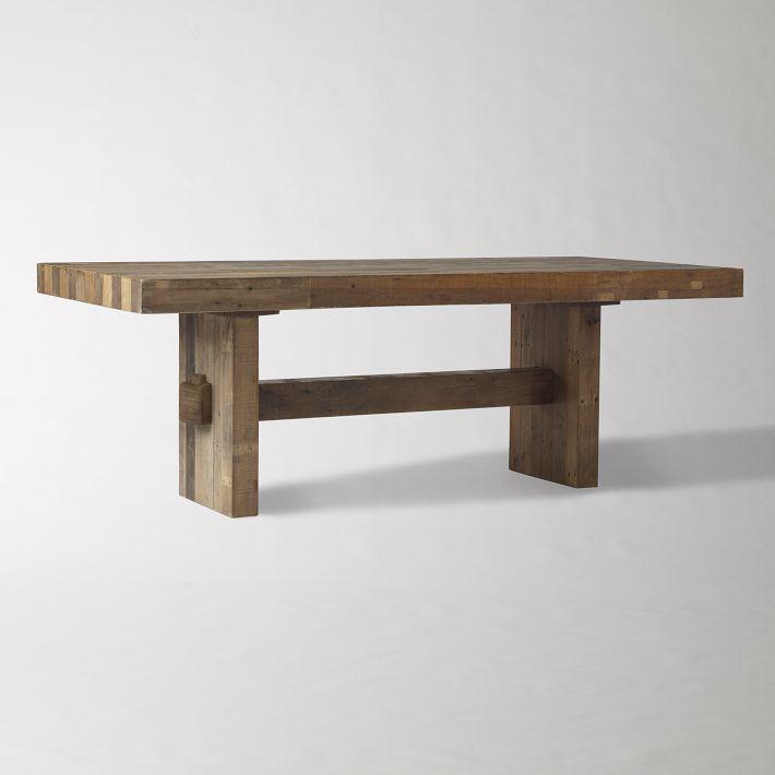 Furniture , 8 Popular Butcher Block Dining Tables : Chunky Butcher Block Dining Table