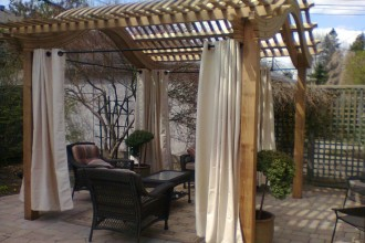 736x552px 8 Outstanding Pergola Curtains Picture in Homes
