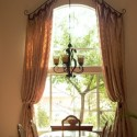Collection of Curved Window Curtain Rod , 7 Superb Arched Window Curtains In Interior Design Category