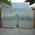 Corrugated Metal Utility Gate , 7 Unique Corrugated Metal Fence In Others Category