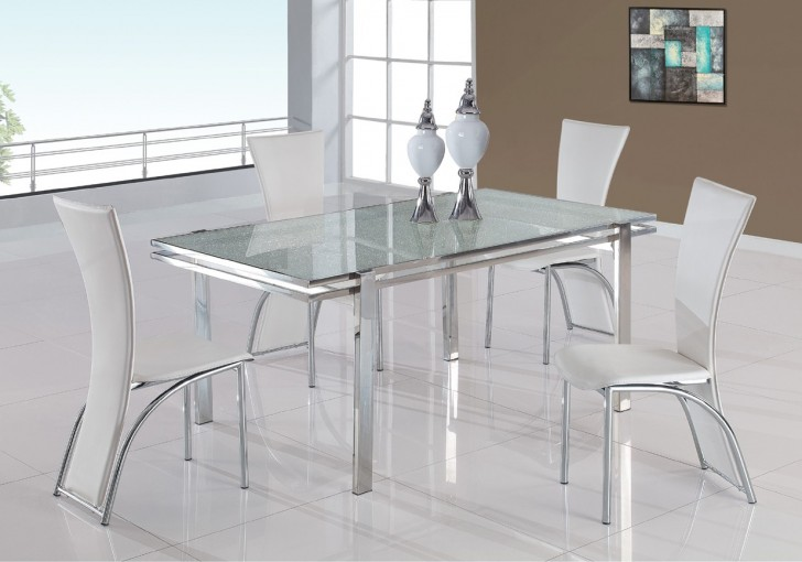 Dining Room , 7 Hottest Crackle Glass Dining Table : Crackled Glass Dining Set