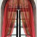 Curved Window Curtain Rod , 7 Superb Arched Window Curtains In Interior Design Category