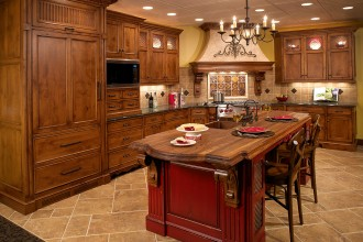 1051x900px 8 Outstanding Knotty Alder Kitchen Cabinets Picture in Kitchen