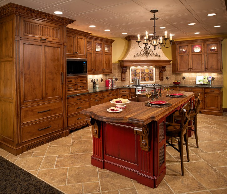 Kitchen , 8 Outstanding Knotty Alder Kitchen Cabinets : Custom Kitchen Display