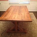 Custom Reclaimed Barn Wood Trestle Dining Table , 7 Excellent Reclaimed Barn Wood Dining Table In Furniture Category