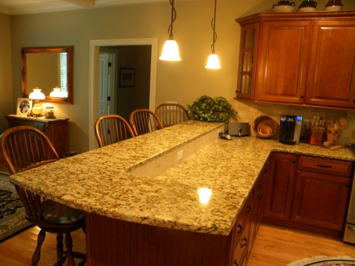Kitchen , 7 Popular Canta Cecilia Granite Countertops : Custom Santa Cecilia Granite Kitchen