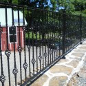 Decorative Wrought Iron Fence , 6 Charming Rod Iron Fence In Others Category