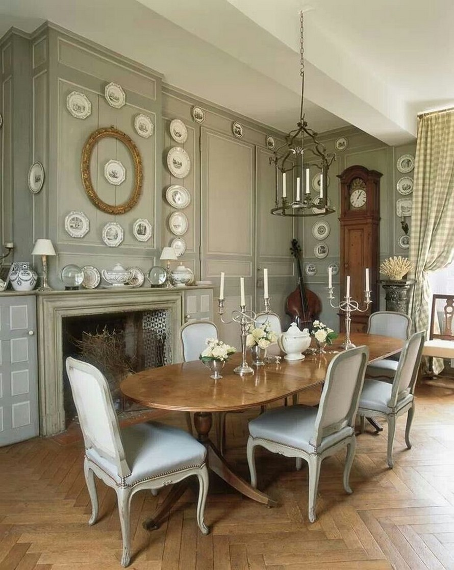 Dining Room , 8 Stunning French Provincial Dining Table And Chairs : Dining  Room Table Style