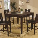 Ervin Counter Height Table , 7 Fabulous Cracked Glass DiningTable In Dining Room Category
