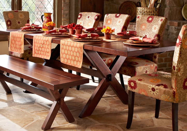 Dining Room , 8 Brilliant Pier One Dining Table And Chairs : Extending Trestle Table