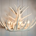 Faux Antler Chandelier , 7 Superb White Antler Chandelier In Lightning Category