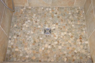1000x750px 8 Best Pebble Tile Shower Floor Picture in Bathroom