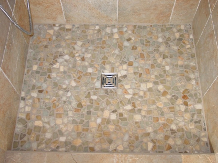 Bathroom , 8 Best Pebble Tile Shower Floor : Floor Using Pebble Tiles