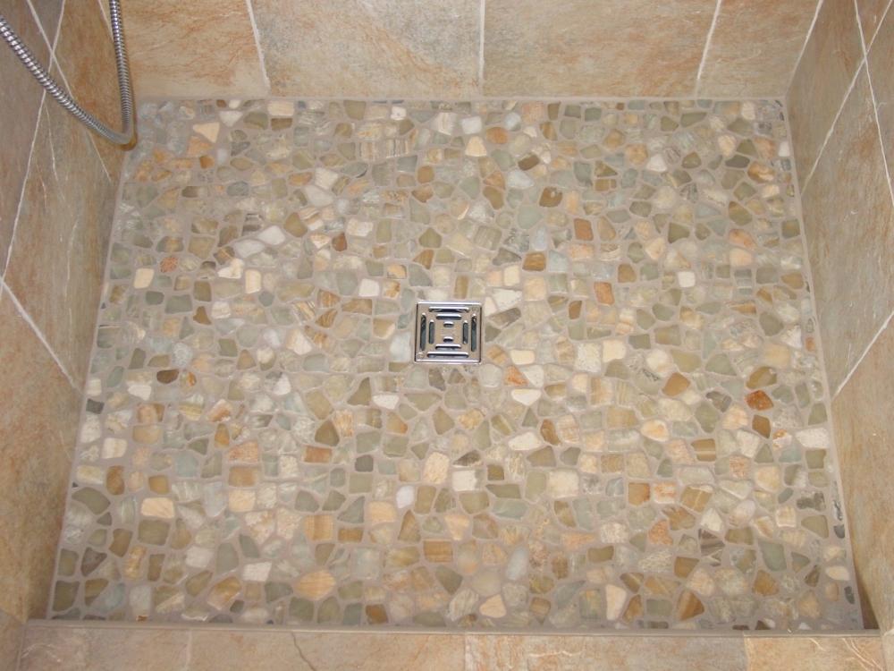 1000x750px 8 Best Pebble Tile Shower Floor Picture in Bathroom