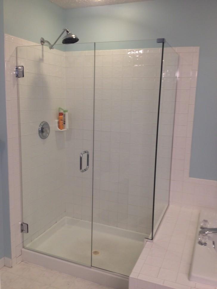 Bathroom , 6 Gorgeous Frameless Shower Doors Cost : Frameless Shower Door